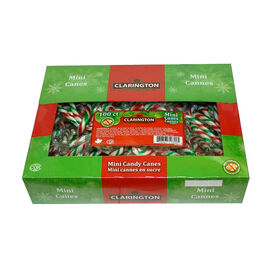 Clarington Mini Peppermint Candy Canes - 100 pack
