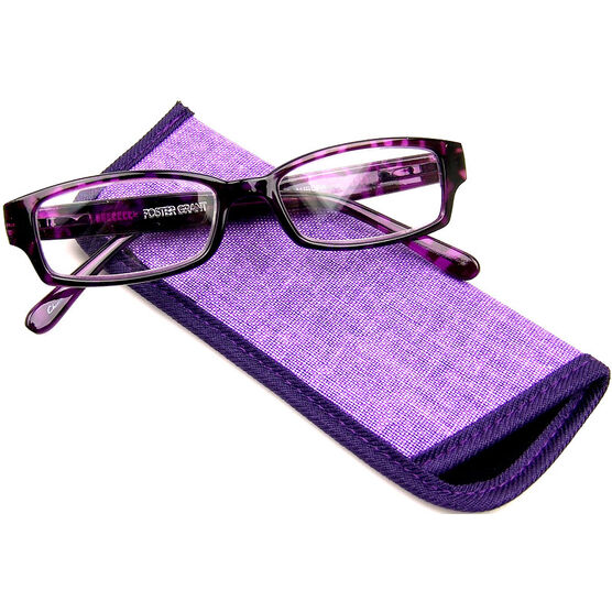 Foster Grant Aurora Reading Glasses with Case - 2.00