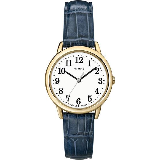 Timex Fashion Easy Reader - Gold/Blue - T2N954GP