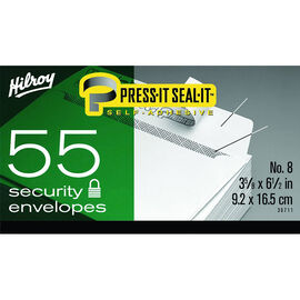 Hilroy Press-It Seal-It No.8 Security Envelopes - 55 Pack