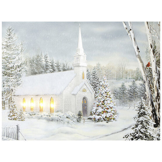 Christmas Forever Canvas - Church - 12 x 16in