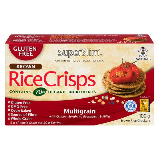 SuperSlim Brown Rice Crisps - Multigrain - 100g