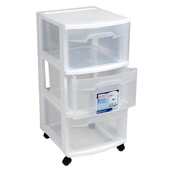 Sterilite 3 Drawer Cart - White