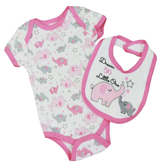 Baby Mode Dream Big Coverall and Bib Set - 0-9 months - Assorted