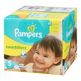 Pampers Swaddlers Diapers - Size 5 - 62's