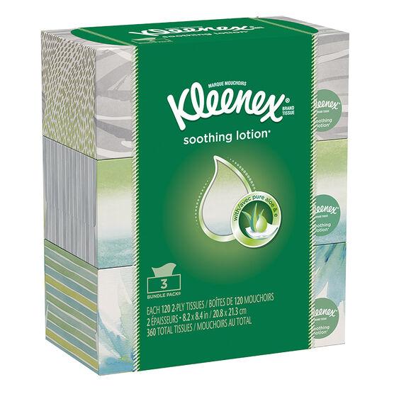 Kleenex Tissues Lotion - 3 x 120's