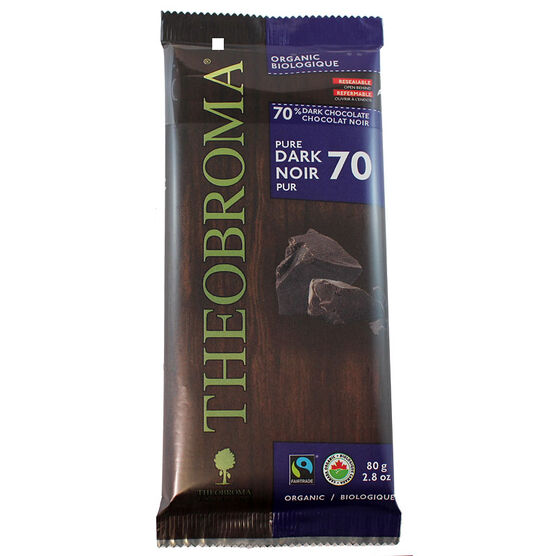 Theobromo 70% Dark Chocolate Bar - 80g