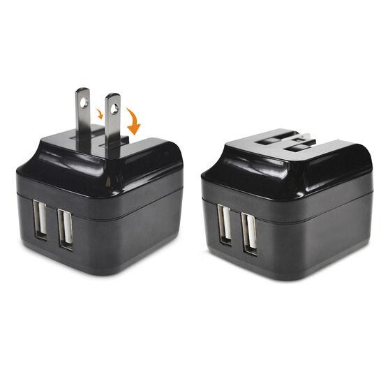 Logiix Power Cube II - Dual USB Charger - Black - LGX10965
