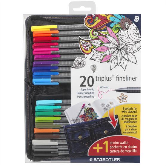 Staedtler Triplus Fineliners - 20 Pack