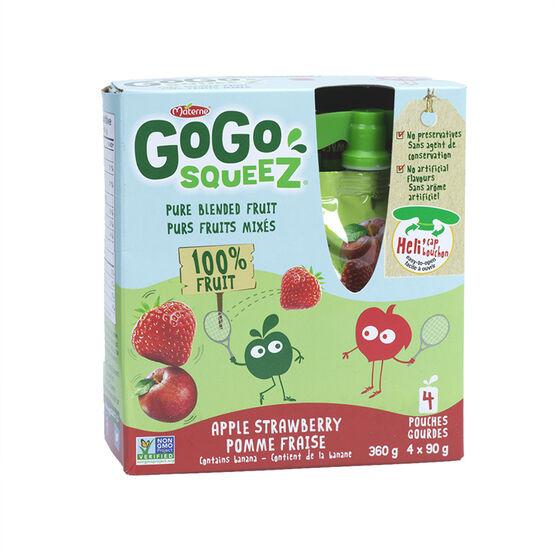 Gogo Squeez Applesauce- Apple & Strawberry - 4 x 90g