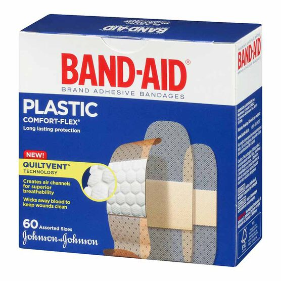 Johnson & Johnson Band-Aid Plastic Comfort-Flex - Assorted - 60's