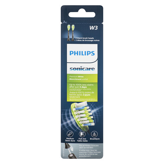 Philips Sonicare Premium Whiten Replacement Brush Head - Black - HX9062/95