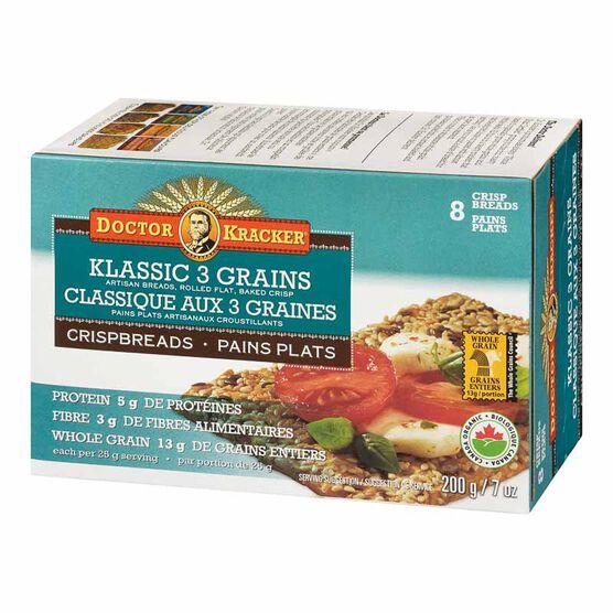 Doctor Kracker Organic & Artisan Baked Flatbread - Klassic 3 Seed - 200g