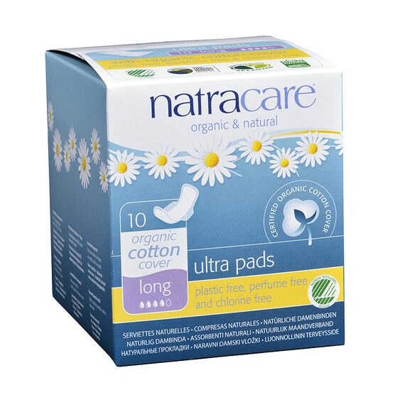 Natracare Natural Ultra Pads with Wings - Long - 10 pack