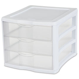 Sterilite ClearView™ Small 3 Drawer Unit