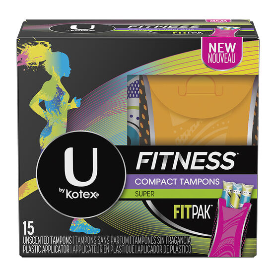 U by Kotex Fitness Compact Tampons - Super - 15's