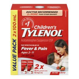 Tylenol* Children's Liquid - Berry - 2 x 100ml