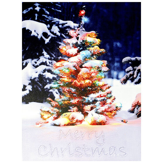 Christmas Forever Canvas - Tree - 12 x 16in