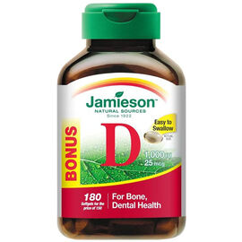 Jamieson Vitamin D 1,000 IU Softgels - Premium - 150's