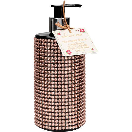 Wild Rose & Musk Bling Bottle Hand Wash - 300ml