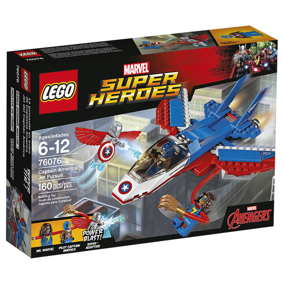 Lego Super Heroes Captain America Jet Pursuit - 76076