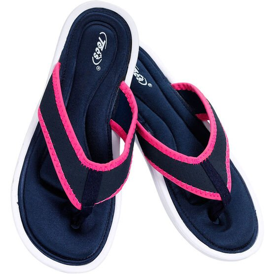 Tecs Women's Memory Foam Sandals - Navy/Pink - Sizes 6-10