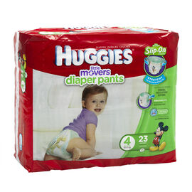Huggies Little Movers Slip-On Diapers - Size 4 - 23's