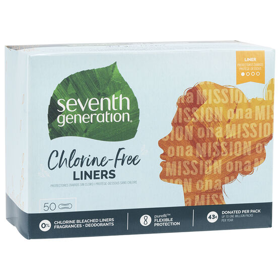 Seventh Generation Free & Clear Pantiliner - Light - 50's