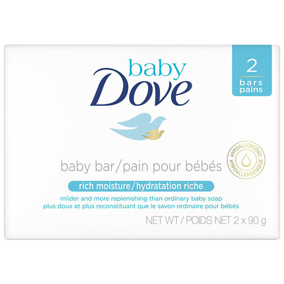 Dove Baby Rich Moisture Cleansing Bar - 2x90g