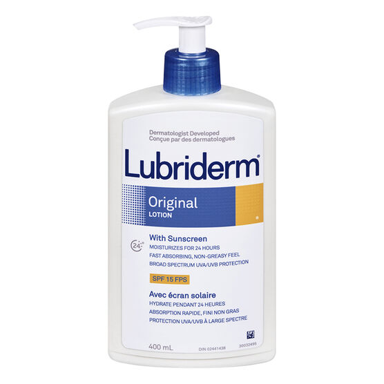 Lubriderm Original Lotion with Sunscreen - SPF 15 - 400ml