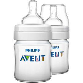 Avent Classic Plus Baby Bottles - 2 x 125ml