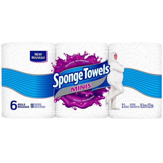 Spongetowels Mini's - 6's