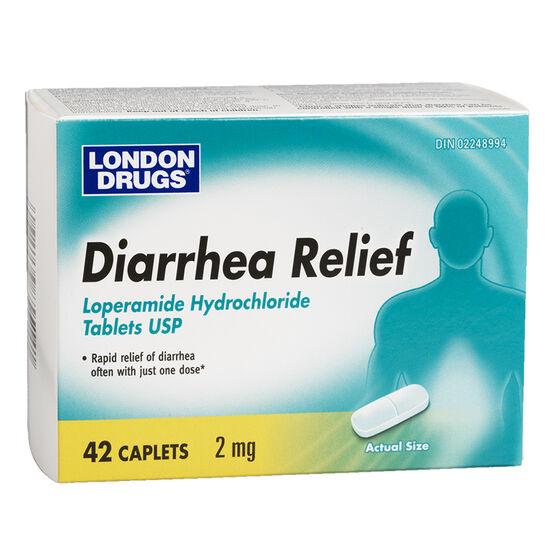 London Drugs Diarrhea Relief - 42 caplets