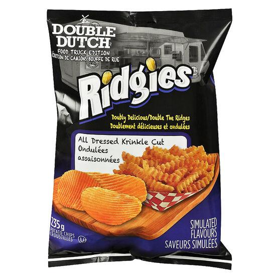 Double Dutch Ridgies Potato Chips - All Dressed - 235g