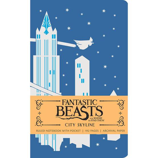 Fantastic Beasts Ruled Journal - City Skyline