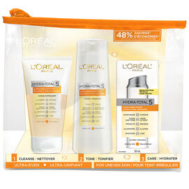 L'Oreal Hydra-Total 5 Ultra-Even Kit - 3 piece