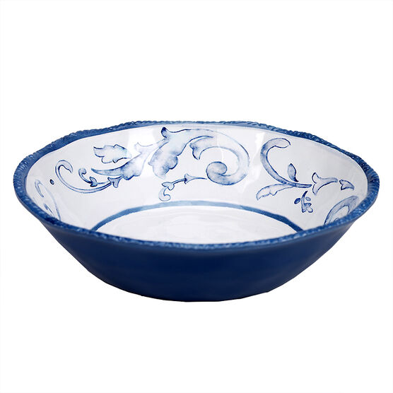 London Drugs Melamine Shallow Bowl - Floral - 9in