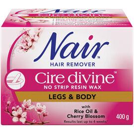 Nair Hair Remover Cire Devine Resin Wax - Leg & Body - 400g