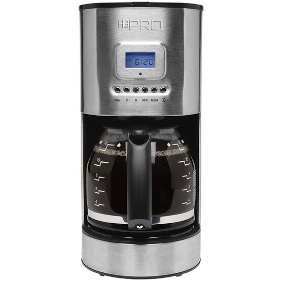 Hamilton Beach Pro 12-cup Programmable Coffee Maker - Stainless Steel - 46000