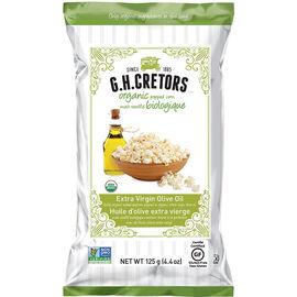 G.H. Cretors Organic Popped Corn - Extra Virgin Olive Oil - 125g