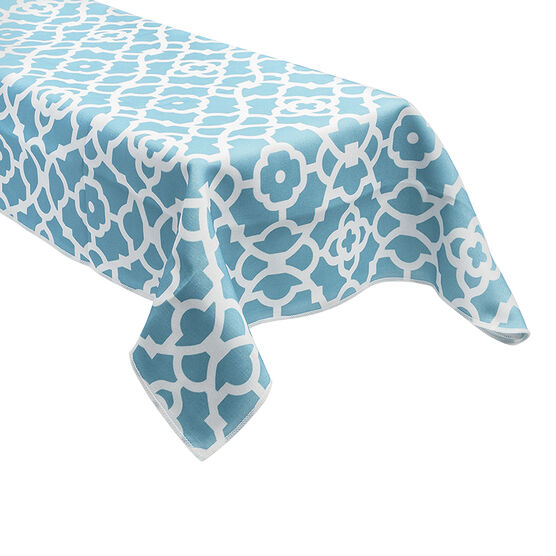 Table Trends G/Work Table Cloth - Aqua - 52 x 70in