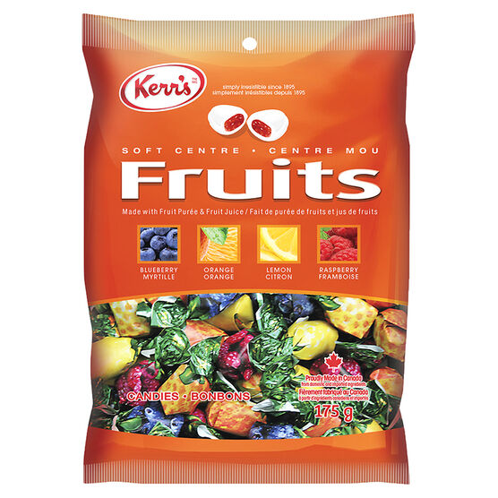 Kerr's Deluxe Fruits Soft Centre Candies - 175g
