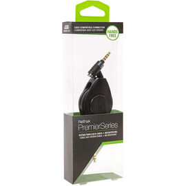 ReTrak Auxiliary Cable with Microphone - Black - ETPRAUXMIC