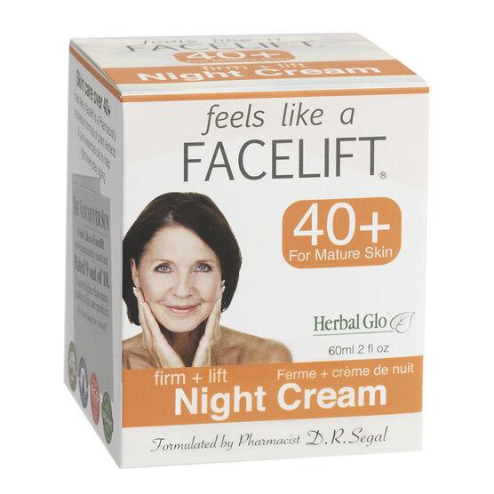 Feels Like a Facelift 40+ Night Cream - Firm +Lift - 60ml