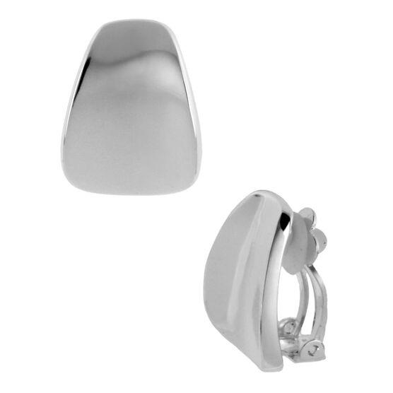 Robert Lee Morris Wedge Button Clip Earrings - Silver