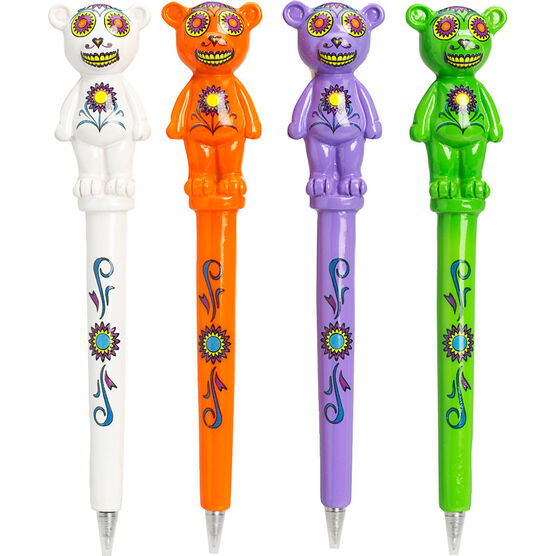 Hand Painted Teddy Bear Pens - Assorted