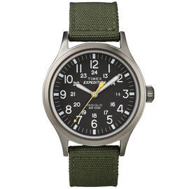 Timex Expedition Scout Metal Watch - Black/Green - T49961GP