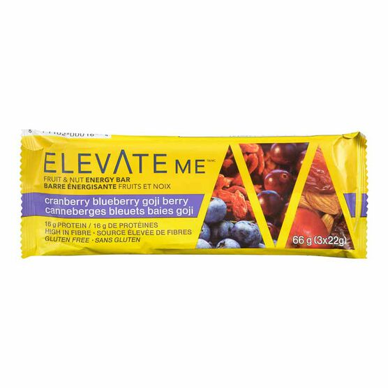 Elevate Me Bar - Blueberry Cranberry Goji Berry Boost - 66g