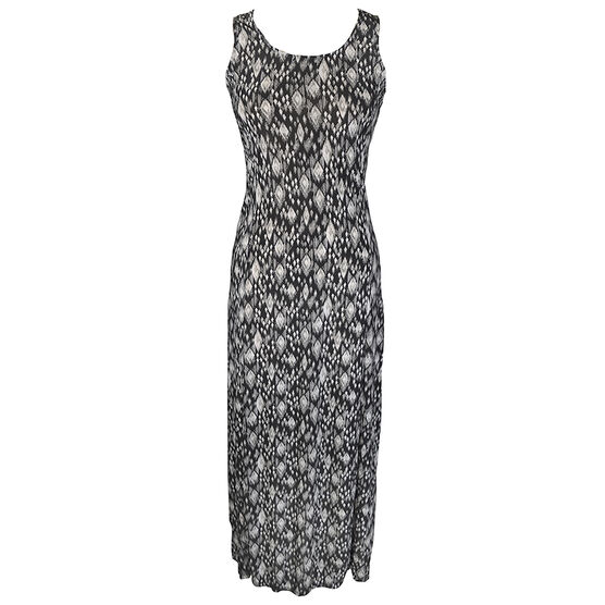 Lava Printed Maxi Dress - Black