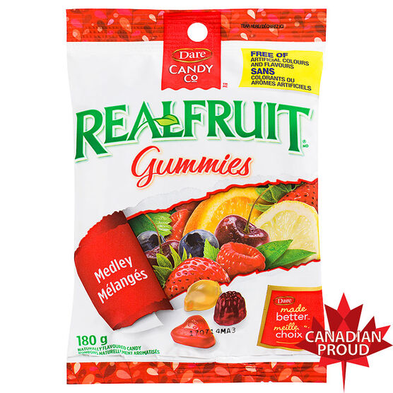 Dare RealFruit Gummies Fruit Medley - 180g